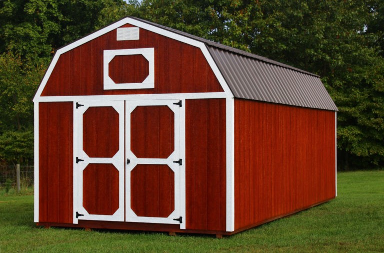 Lofted storage barns for sale in Indiana Hoosier storage sheds