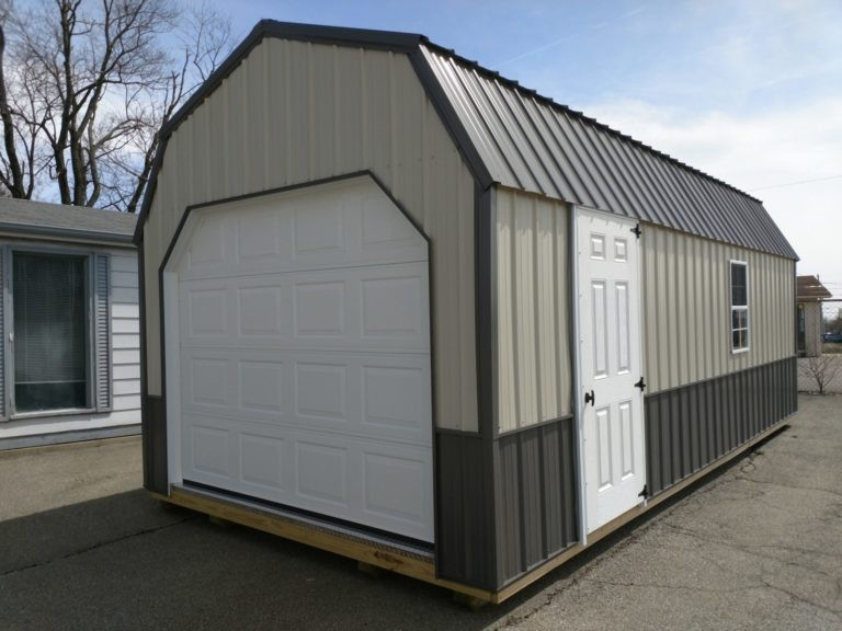 hoosier sheds metal lofted garage